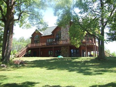 Photo for 4- Bedroom Luxury on  Two Lakes and 32 Private  Acres