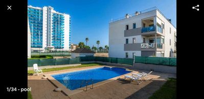 Photo for Apartment with pool for 6, ideal families!