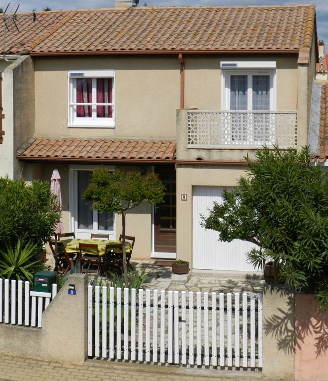 Location maison Valras Plage Hérault pour 6 personnes. Parking, internet