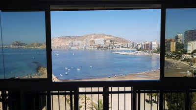 Photo for BEAUTIFUL APARTMENT ON THE FIRST LINE OF THE BEACH WITH PRECIOUS SEA VIEWS