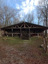 Secluded cabin in the woods but within walking distance to the lake.