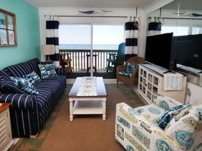 Photo for Ocean Garden Villas C3, Beautifully Decorated 2 BR Ocean Front Condo with an Outdoor Swimming Pool