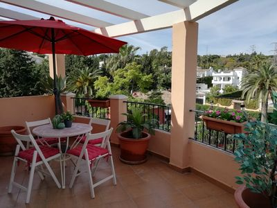 Photo for Great terrace, walking distance to Puerto Banus