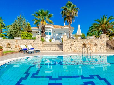 Photo for Beautiful villa Silia with amazing gardens, private pool, 3 bedrooms and aircon