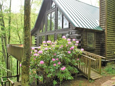 Photo for Classic Log Cabin* VIEW*Hot Tub*Pool Table*Fireplace*Near Sugar & Beech