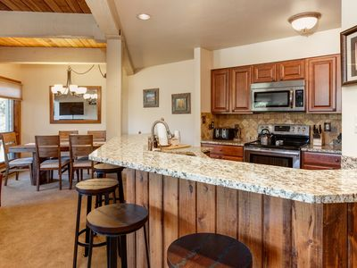 Photo for Condo with a Cabin Feel - Relax in 5 Hot Tubs - Free Shuttle - Discount Lift Tix