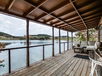 Photo for Private lake cabin on 120 acres, 4.5 miles from Boerne
