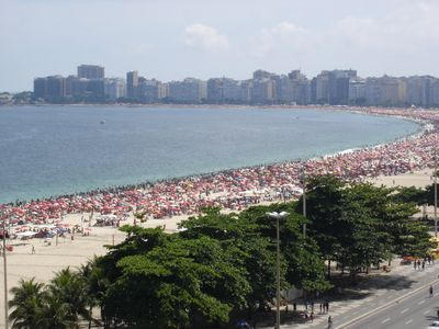 Photo for Beach-Front with Panoramic View of 100% of Copacabana Beach