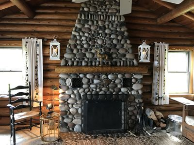 Photo for Stay in a classic American log cabin on Lake Superior's North Shore