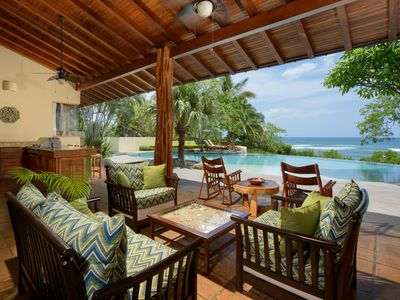 Photo for Gorgeous 4 Bedroom Beach Front Estate on Exclusive Playa Langosta!