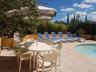 Photo for Villa full foot of 160m ² for 8 people with covered terrace and swimming pool.