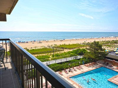 Photo for Quaint, cozy 2 bedroom oceanfront condo with free WiFi and great ocean view with awesome amenities including two pools and a movie theater!