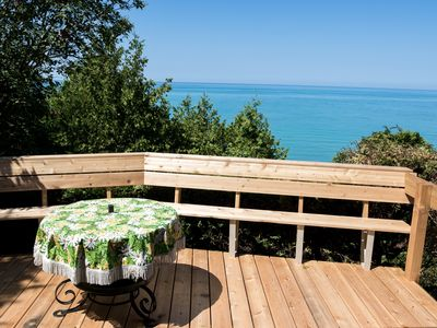 Photo for Waterfront 3 bedroom Cottage near Bayfield, quiet retreat, private sandy beach