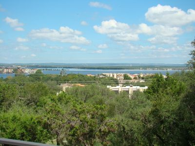 Photo for MILLION DOLLAR VIEWS!!!   Beautiful hill top house with views of lake LBJ!  3 bedroom 3 bath house