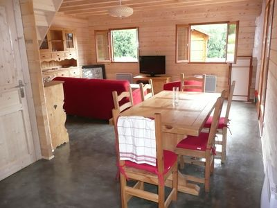 Photo for To rent chalet of 70 M2 to 250 m of the lake Chambon