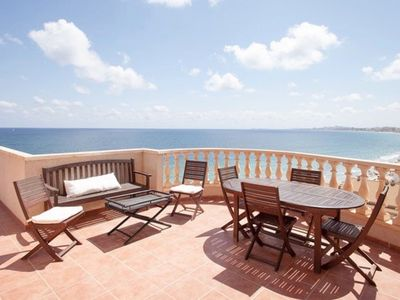 Photo for Beautiful Spain Condo Overlooking the Medditeranian 2bed/2bath beach front