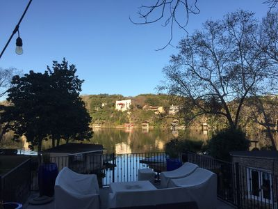 Photo for Luxury Lake Austin Waterfront home, Pool, Party Deck, Near Austin Country Club