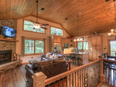 Photo for Upscale Mountain Chalet with Views, Game Room, Outdoor Fire Pit, Close to Boone & Blowing Rock