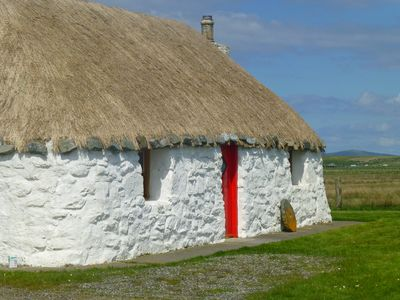 Photo for Welcome to our romantic, traditional thatched blackhouse; an ideal retreat