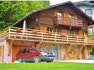 Photo for Chalet Falcon ~ Hot Tub, BBQ, Terrace all facing Mont Blanc
