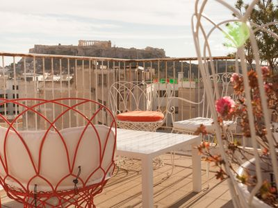 Photo for Trendy apartments, next to Plaka, roof top terrace with amazing views