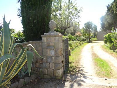 Photo for Near Cannes, beautiful Provencal villa with sea view and swimming pool in a park of greenery.