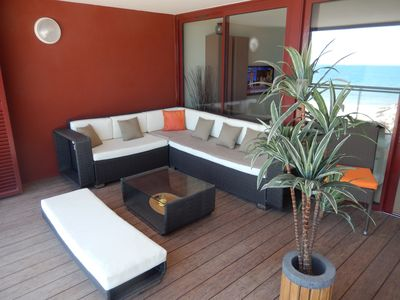 Photo for On the beach, Apartment 5 * of 75m2, Clim, Wifi and terrace of 25 m2!