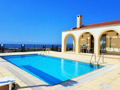 Photo for Breath-taking sea and mountain views, villa with private pool close to beach!