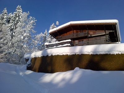 Photo for Charming large chalet with breathtaking Mont Blanc Views