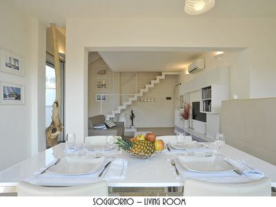 Photo for Penthouse with two large terraces, a nautical-contemporary, sea view
