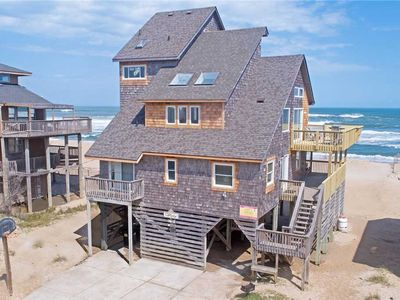 Photo for Amazing Oceanfront Views in Avon - Hot Tub, Foosball, Wifi. Steps to the Beach!