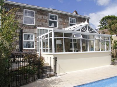 Photo for Stunning, Cornish Cottage with Garden, Private Swimming Pool, South-Facing Views