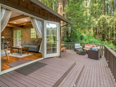Deck - Welcome to Monte Rio! Your rental is professionally managed by TurnKey Vacation Rentals.
