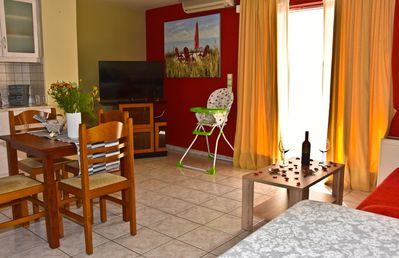 Photo for 1 bedroom aprt (sleeps 6) steps from the beach,near the old town of Chania