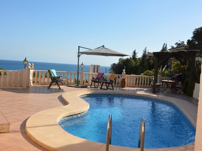 Photo for Lovely family villa with amazing sea views, large terrace and private pool