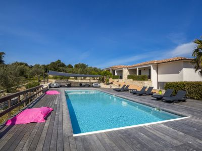 Photo for Luxury villa (T3) with heated pool - L'Albitru
