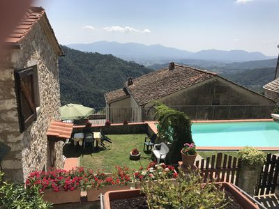 Photo for Rustico with pool and outbuilding in the hills of Lucca
