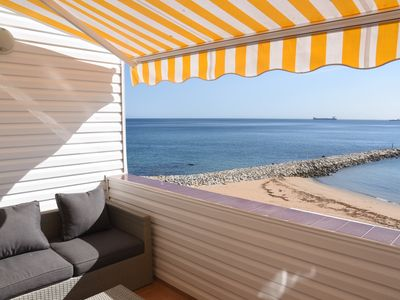 Photo for Peaceful beachfront Apt with spectacular views