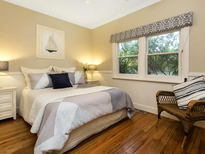 Photo for The Shearwater Deck - 250m from the bay beach - BEACHSIDE SPA COTTAGE