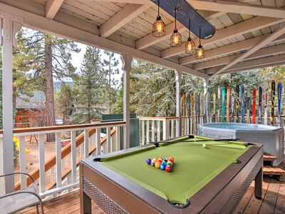 "Photo for ""The Ski Shack""- Hot Tub, Pool Table, 2 Fireplaces, WiFi, Close to slopes"