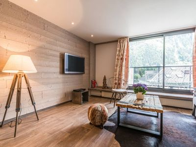 Photo for Unique: Superb apartment in the heart of CHX with parking and Mt Blanc view