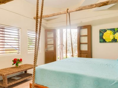 Intimate, Romantic Swinging King Size Bed, on Private White Sand Beach