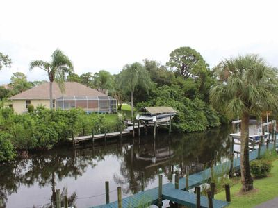 Photo for Enjoy A Quiet SW Florida Retreat! 2nd Floor Condo Overlooking Canal, Covered Parking, Free WiFi!