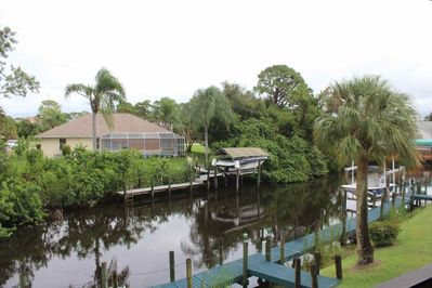 Enjoy a peaceful view of Riverbend's canal and the wildlife that call it home, just outside the condo's 2nd floor balcony lanai.