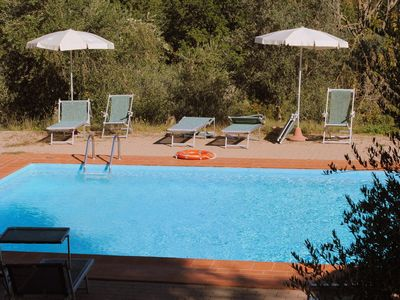 Photo for HOME 4 PAX PRIVATE GARDEN COMMON POOL VIEW OVER THE TOWERS OF SAN GIMIGNANO