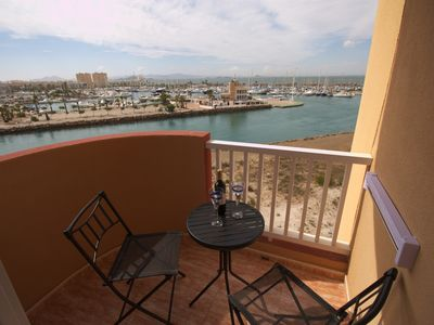 Photo for Bright two bedroom with views over the Marina