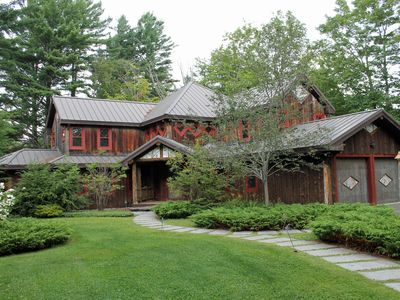 Photo for Adirondack Style home-sleeps 10-Private-views of golf course-pet friendly;