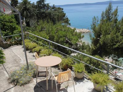 Photo for One bedroom apartment with terrace and sea view Podgora, Makarska (A-6805-c)