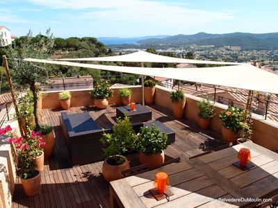 Photo for Village House-Terrace 50m ²- Stunning sea and islands view  - Rated 5 stars