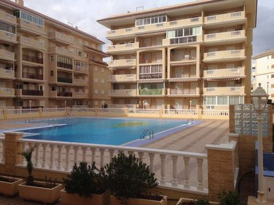 Photo for 2 bedroom apartment 150 m from the sea, swimming pool and garage under, ground